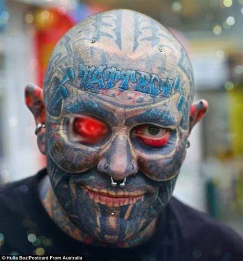 full body and face tattoo adelaide man tattboy holden has spent 100k on tattoos