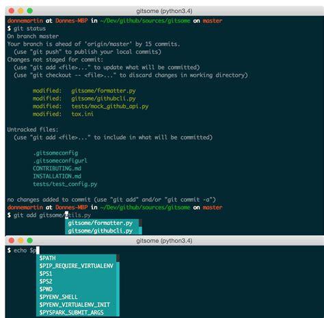 github shell tutorial 一个增强的git shell自动完成器 整合了github python开发社区 ctolib码库