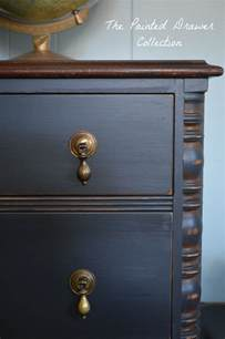 Black Distressed Cabinets A Vintage Chest In General Finishes Chalk Style Paint