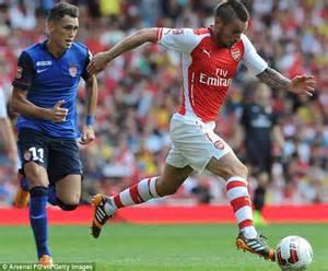alexis sanchez debut arsenal alexis sanchez set to make arsenal debut vs manchester