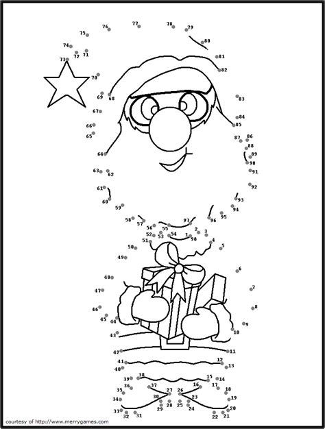 Free Printable Christmas Connect The Dots Merry Games Merry Coloring Pages Pdf