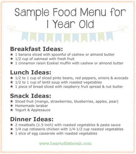 dinner menus for 12 best 25 1 year baby food ideas on 1 year