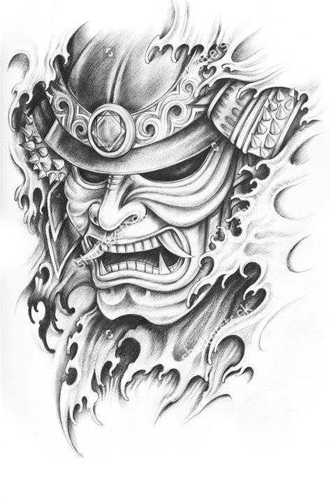 collection of 25 oni mask tattoo