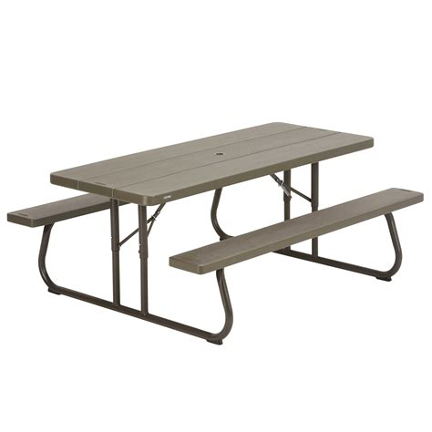 lifetime bench table lifetime brown plastic folding picnic table 10 pack on