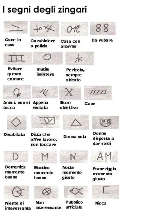 simboli degli zingari sulle porte i segni degli zingari istituto di vigilanza la lince