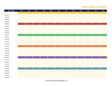 Marketing Calendar Marketing Caign Calendar Template
