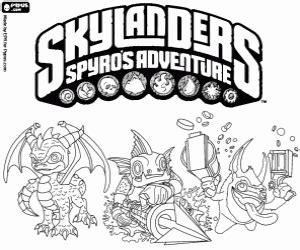 Skylanders Spyros Adventure Coloring Page sketch template