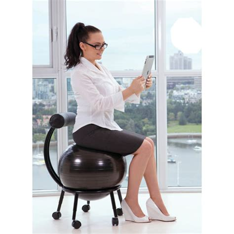 chaise de bureau ballon purathletics chair wte10441 black stability