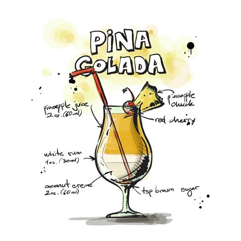 cocktail drawing mix up the perfect frozen pi 241 a colada recipe mash