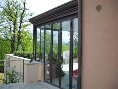 verande chiuse a vetri great veranda con copertura e frontone di chiusura in rame