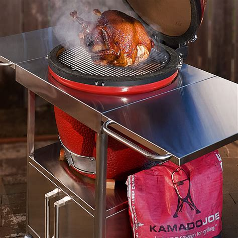 kamado joe stainless steel table stainless table holds big joe grill and offers convenient