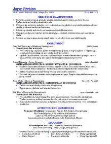 Resume Profile Exles For College Students Sle Resume College Student Learnhowtoloseweight Net