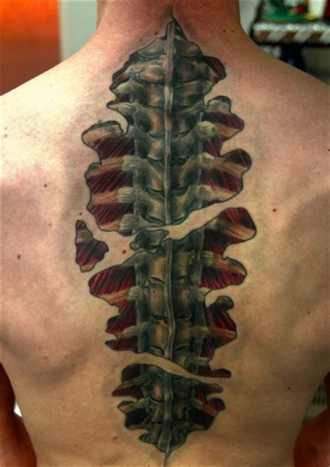 skin and bones tattoo 17 best images about 3 d tattoos on back