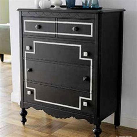 Painting A Dresser Black by Blackboard Paint Diy Modern Furniture Decoration In Black