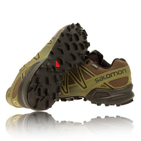 salomon speedcross 3 gtx trail running shoe salomon speedcross 3 gtx mens green waterproof