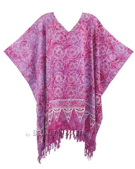 Kaftan Batik 24 orchid purple batik kaftan caftan tunic top blouse
