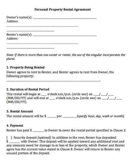 rental agreement templates real estate forms