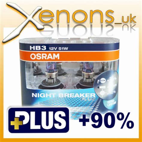 Lu Osram Hb3 12v 60w Original hb3 60w osram breaker 90 bulbs 12v 9005nbp x2 xenon hid look ebay