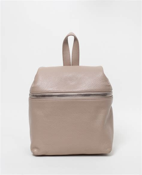 kara bags kara small pebble leather backpack taupe in