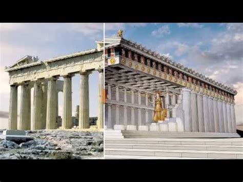 Parthenon Cornice Parthenon Reconstruction How It Was In Ancient Times
