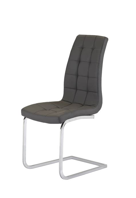 Grey Faux Leather Dining Chairs Grey Faux Leather Dining Chairs Pair Homegenies