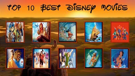 film disney recommended top 10 best disney movies by loudcartoonist99 on deviantart