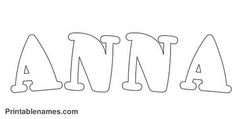 printable coloring pages with your name anna printable girls name color printablenames 424515