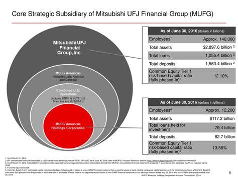 mitsubishi ufj capital mufg investor relations mitsubishi ufj financial