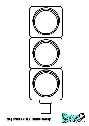 stop light template colorear semaforo pintas se 241 ales trafico recursos