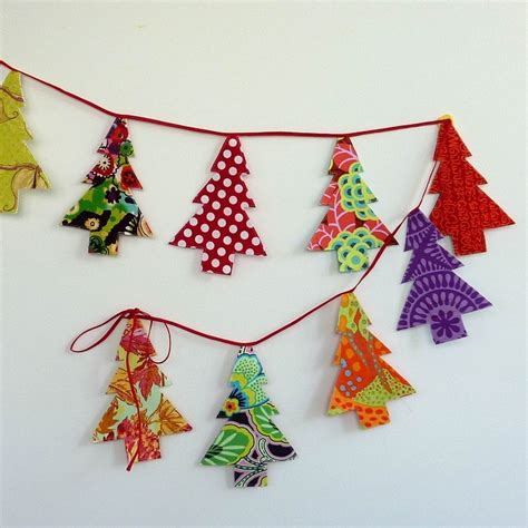 christmas tree bunting garland cardmaking papercrafts