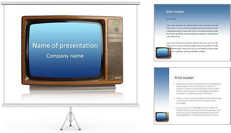 ouderwetse tv sjablonen powerpoint presentatie
