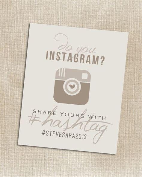 Wedding Hashtags Instagram by Hashtag Print Wedding Instagram Beige Printable