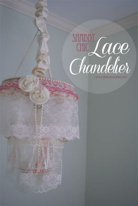adorable lace chandelier for a little girls nursery tutorial included pin now make later