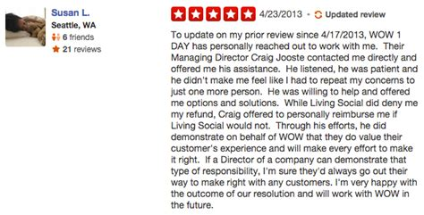 10 Ways To Deal With Negative Customer Reviews Practical Ecommerce Yelp Review Template