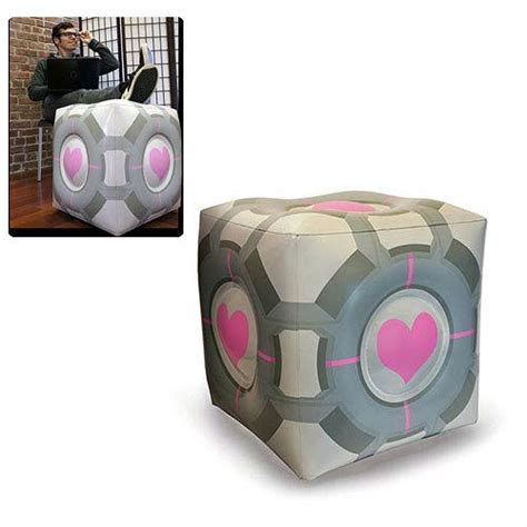 companion cube ottoman inflatable companion cube ottoman shut up and take my money