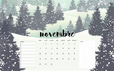 Calendrier De Novembre Calendriers Fonds D 233 Cran Pour Le Mois De Novembre