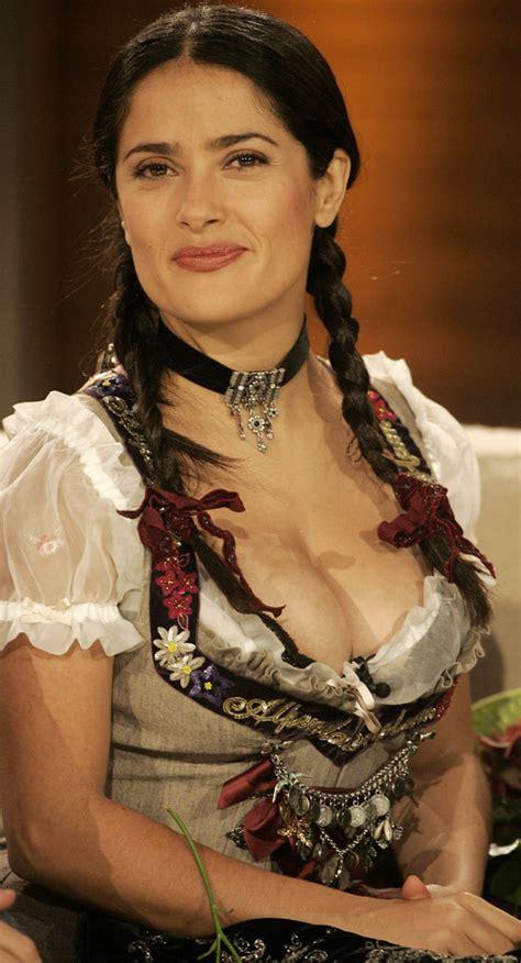 Salma Hayek Wardrobe Malfunction by Salma Hayek S Near Miss On German Tv Photos Huffpost