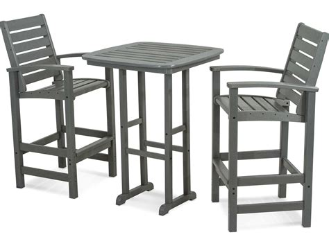 Set By Zm Collection polywood 174 signature recycled plastic 3 bar set