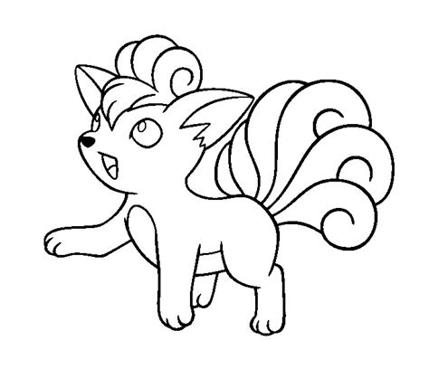 pokemon coloring pages vulpix vulpix base by conythewolf on deviantart