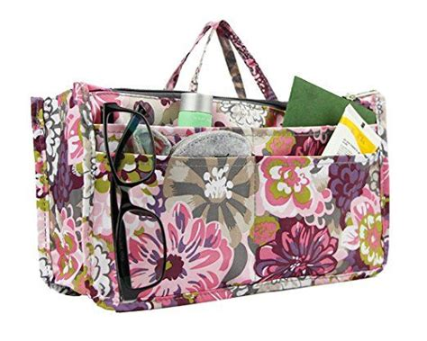 Get Organised With The Expandable Purse Organiser by Micom Printing Expandable 13 Pocket Handbag Insert