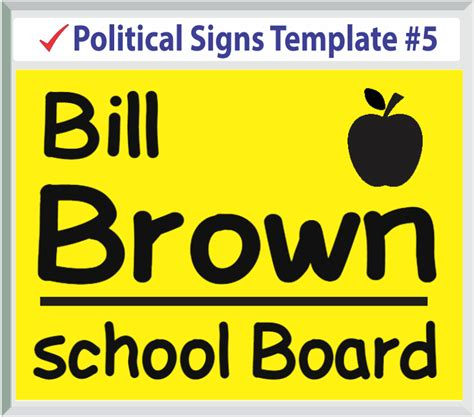 political yard sign template political templates