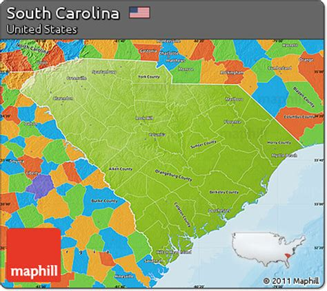 political map of south carolina free physical map of south carolina political outside