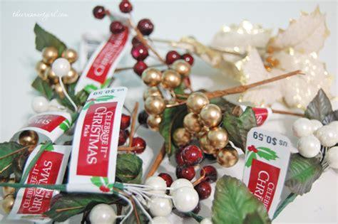 christmas tree picks handmade berry glass ornament craft diy