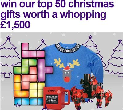 win 50 top christmas gifts worth 163 1500