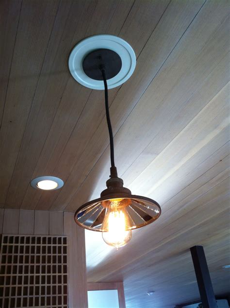 Recessed Can To Pendant Light Conversion Convert Can Light To Pendant 5 Minute Light Upgrade Converting A Recessed Light To A Pendant
