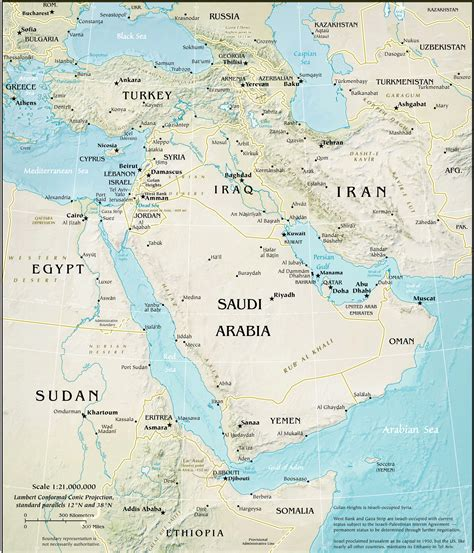 middle east city map middle east physical map middle east topography map