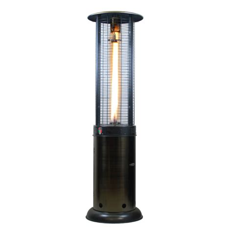 Lp Patio Heater Shop Lava Heat Italia 51000 Btu Gun Metal Steel Floorstanding Liquid Propane Patio Heater At