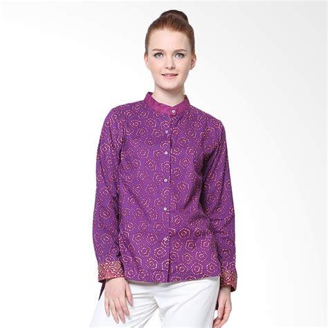 Kemeja Wanita 8504 Warna Khaky Dan Purple jual days by danarhadi jumput segi warna eggplant slit sleeves shirt kemeja batik
