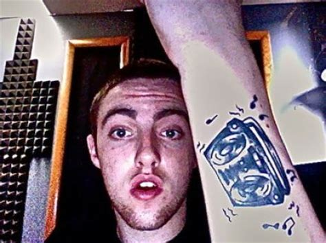 mac miller tattoo pin mac miller on