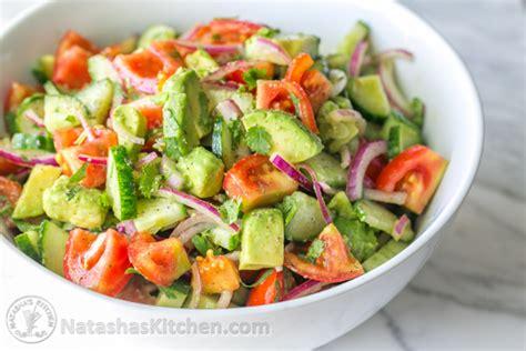 cucumber tomato avocado salad beyond the basics health